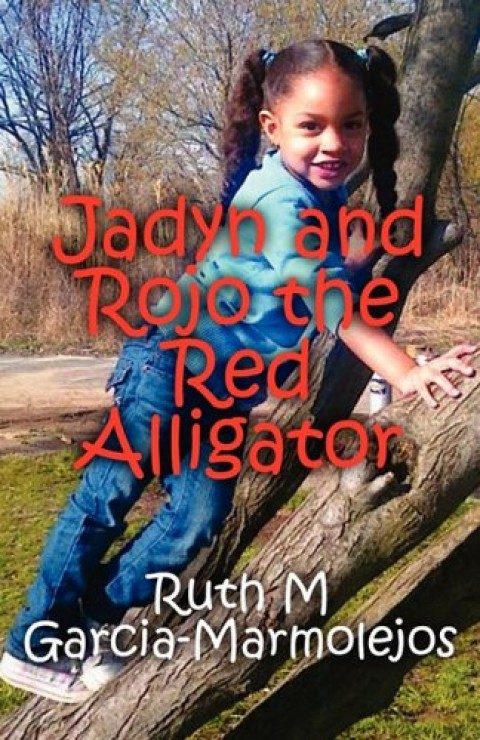 Jadyn and Rojo the Red Alligator