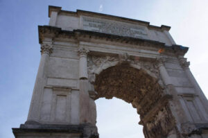 no Roman story would be complete without a Roman arch