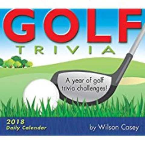2018 Golf Trivia daily box calendar